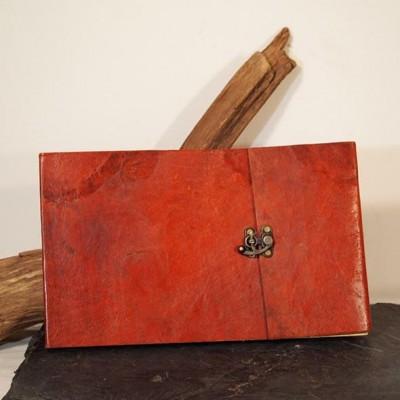 Grand carnet en cuir – Paysage – Crochet – XXL