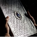 Cahier à dessin, frappé avec pierre (grand format)