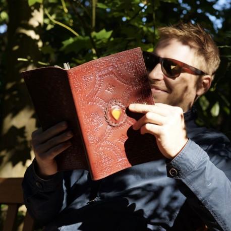 Liseuse en cuir frappé - Pierre - Grand format