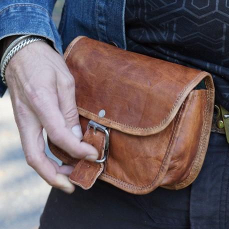 Pochette pour ceinture en cuir - S