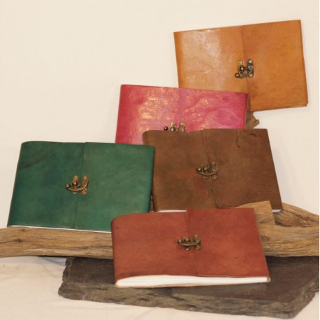 Grand calepin en cuir - Paysage - Crochet - XL