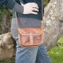 Petit sac à main en cuir à bandoulière - 1 boucle - XS