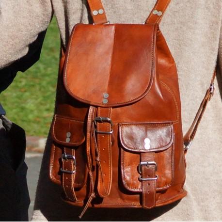 sac à dos cuir vintage petit modèle