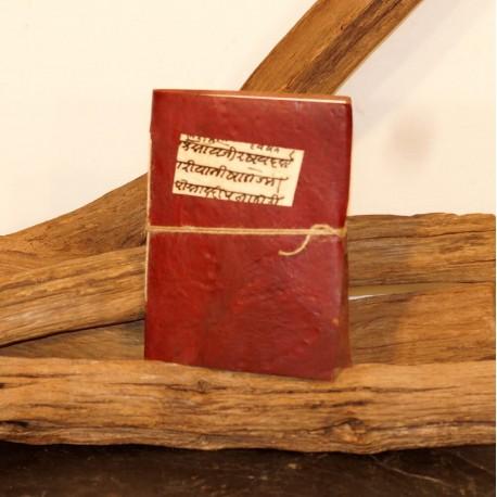 Calepin en cuir recyclé - Sanskrit