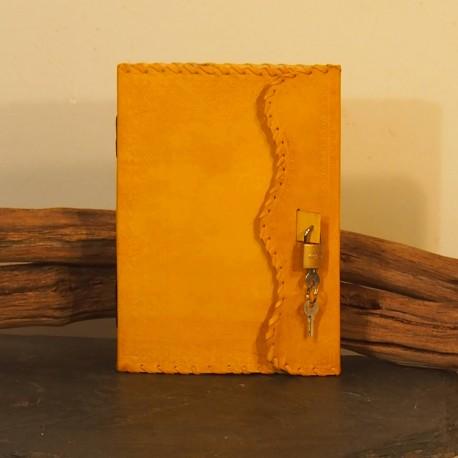 Journal intime en cuir coloré - Cadenas - XL