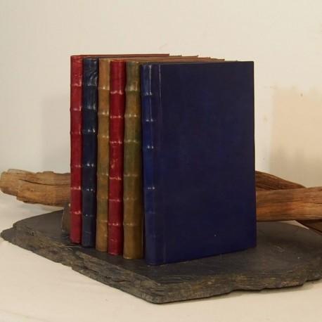 Livre Ancien En Cuir Livre D Or Carnet D Ecriture De Dessin Artisanat