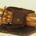 Ceinture à poches en cuir - Viking - Crochet laiton