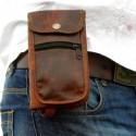 Pochette smartphone & papiers en cuir – XS