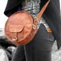 Petite sacoche ronde en cuir à bandoulière – Full Moon S