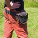 Ceinture à poches en cuir - Pirate - Crochet laiton