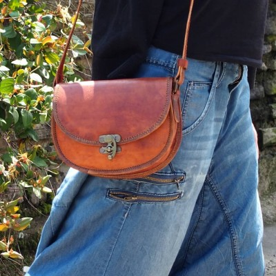Petit sac à main en cuir - Crochet - LadiesBag S