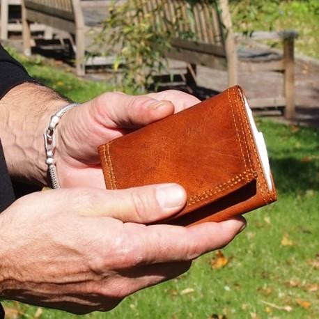 Porte-cartes en cuir de chèvre