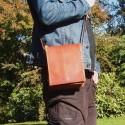Petite sacoche homme en cuir à pression aimantée - S