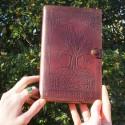 Couvre-livre en cuir - Arbre de vie - Petit format