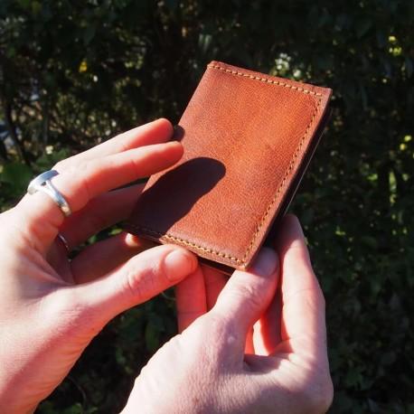 Mini porte-cartes en cuir