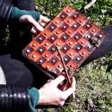 Grimoire en cuir - Damier - Crochet laiton - XL