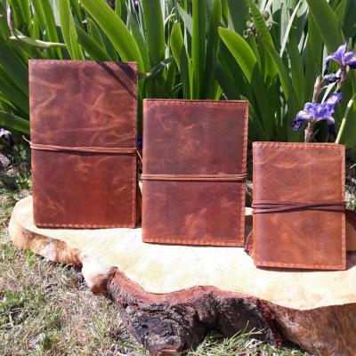 Grand couvre-livre / Protège Cahier - Cuir Buffle - XL