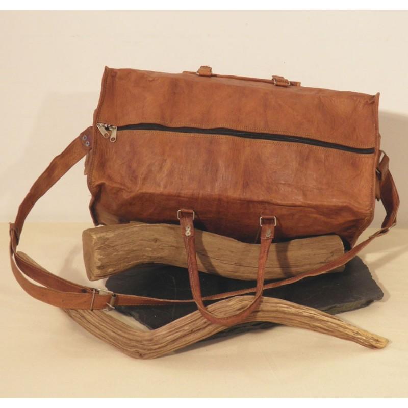 sac de voyages vintage en cuir bagage cabine avion bandouli re. Black Bedroom Furniture Sets. Home Design Ideas