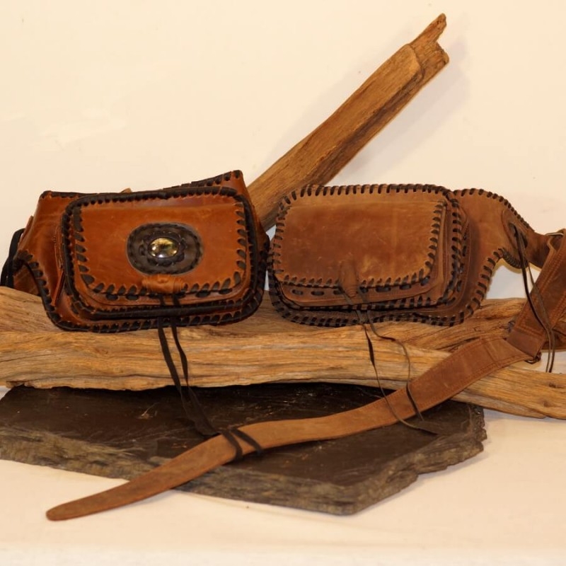 ceinture cuir à poches